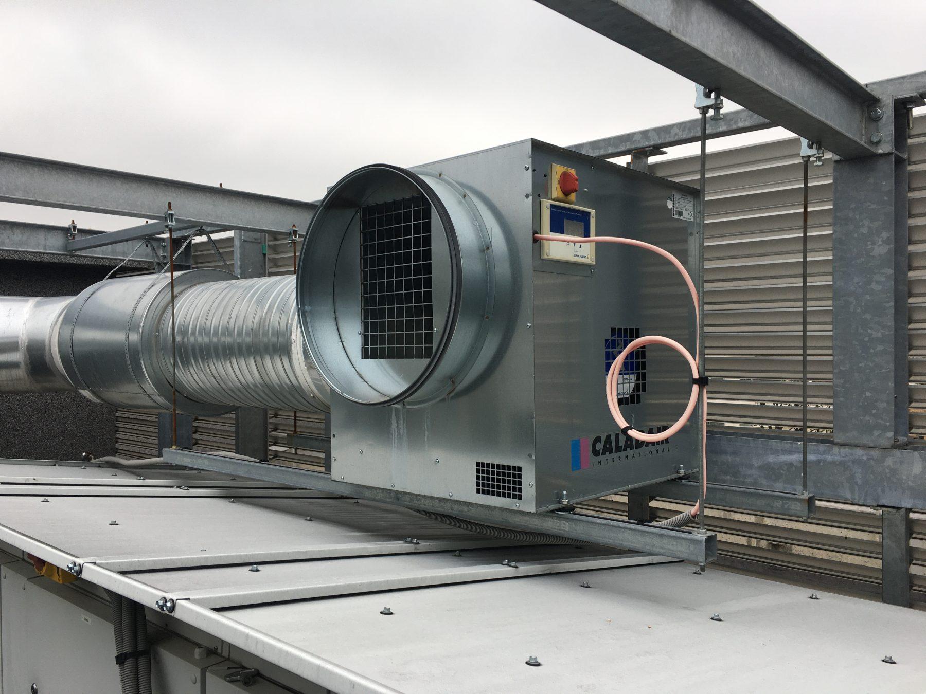 Système de ventilation installé par Optense