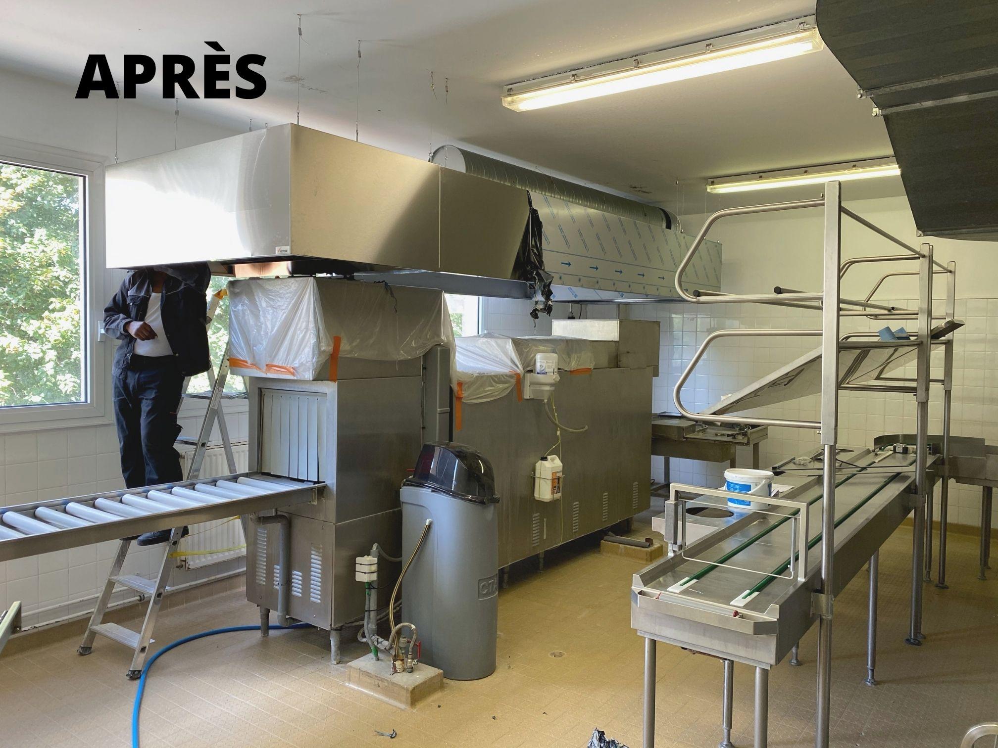 Extensions de laverie installé par l'entreprise Optense